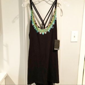 NWT Hurley Swimsuit Cover Up Tunic Tank M Colorful
